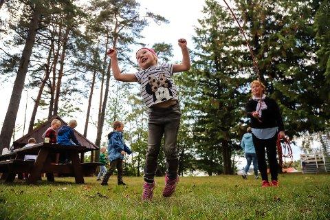 KAN BLI DYRERE: SFO satsene kan øke i Larvik. Bildet er fra en SFO i Larvik ved en annen anledning.
