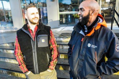 HAR FÅTT MULIGHET: Tidligere insatte Elias (32) har fått jobb i et av selskapene til Michael Stang Treschow. Det er begge veldig fornøyde med.
