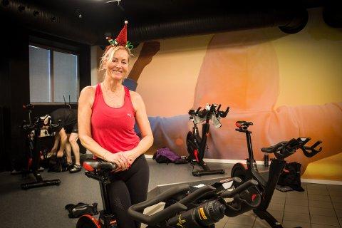 GOD ØKT: Hildegunn Hansen syntes det var deilig å trene før julemiddagen.