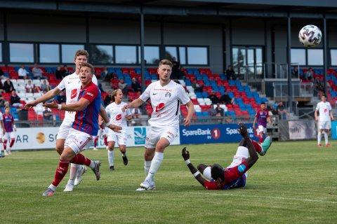 Stortap: Henrik Bach Røsholt, Mame Ndiaye og resten av Fram var sjanseløse mot Arendal lørdag.