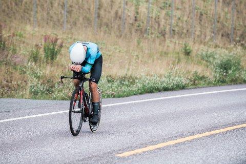 - Pinnestiv: Anton Stensby slet seg gjennom løypa tur/retur Langangen-Sky inn til en imponerende 14. plass i NM.