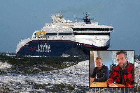 NY ENDRING: Knut Christoffersen (innfelt, t.v.) og Lasse Thomsen skulle ha vært hjemme i Danmark i går kveld. Nå har enda en avgang med Superspeed 2 fått ny avgangstid.