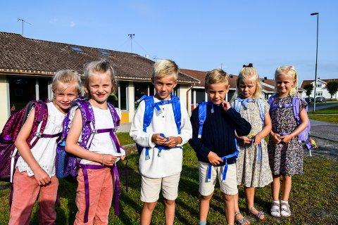 TRIPPEL: Lycke og Hella Skarpeid, Wilhelm og Magnus Hollekim Næss, Celine og Alice Helberg Aanstad er alle tvillinger og går nå i samme klasse på Østre Halsen.