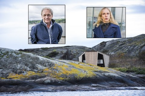 DØNN UENIGE: Per Manvik er glad for at gapahukene på Vestre Bramskjær fjernes. Birgitte Gulla Løken håper de får stå.