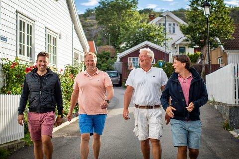SATSER SAMMEN: Fra venstre: Sven Holhjem (E&H invest AS), Knut Inge Anvik Johansen (Brunlanes Eiendom AS), Johnny Eliassen (E&H invest AS),og Simen Thorsen (Brunlanes Eiendom AS).