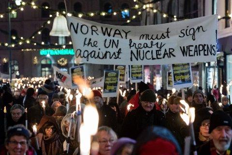 BØR SIGNERE: Dessverre stikker Norge hodet i sanden og har verken signert eller ratifisert atomvåpenforbudet, skriver Irene Elise Hamborg, styreleder for Norges Fredslag