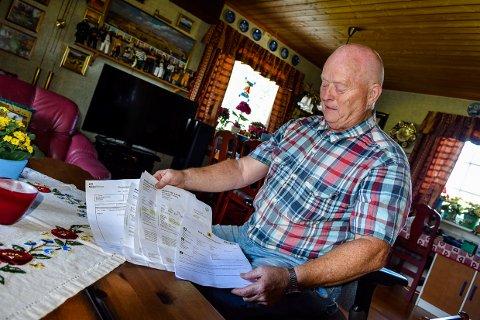 KONTROLLERT: Egil Rolandsgard ante ugler i mosen. Det sparte han mye penger på.
