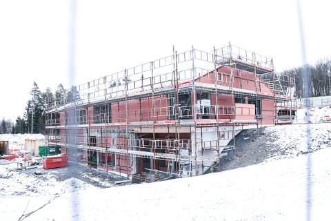 POPULÆRT: Svært mange vil jobbe på det nye ungdomshjemmet som er under bygging på Veldre i Larvik.