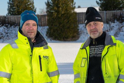 FIKK OPPDRAGET: Daglig leder Anders Johansen (t.v.) og prosjektleder Arild Øyen er klare til å gå i gang med prosjektet.