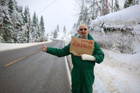 SLIPPER Å HAIKE: Kreftforeningen har tatt grep og tilbyr Hans Petter Thaulow (69) gratis transport til sykehuset.