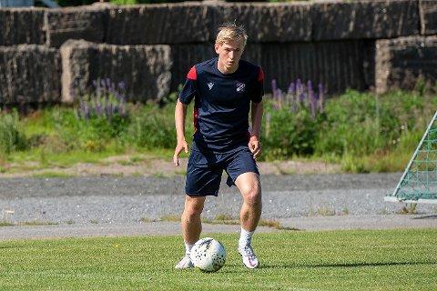 For Norge - og Fram!: U18-landslagsspiller Fabian Holst-Larsen kommer på lån fra Strømsgodset de neste månedene.