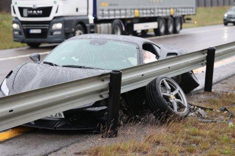 KRASJET: Ulykken inntraff mandag ettermiddag.