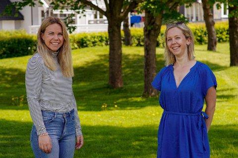 NYE KOLLEGER: Henriette Grimstad (t.v.) og Signe Steinnes Fevik har fått ny jobb.