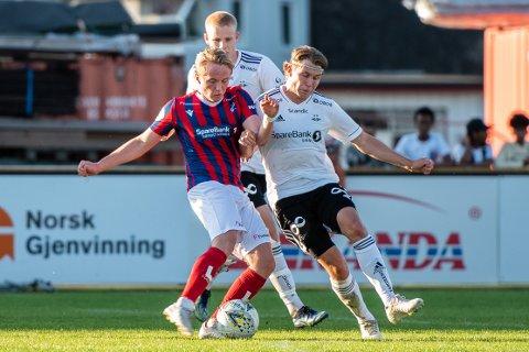 Gamle kjente: Daniel Flaathe Simonsen fikk sin debut for Fram mot tidligere lagkamerater i RBK 2. Etter kampen var det Daniel som kunne smile bredest.
