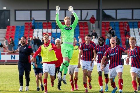 Endelig: Petter Saga Hagen fikk sin debut for Fram mot topplaget Egersund. Keeperen har ventet over seks måneder for dette.