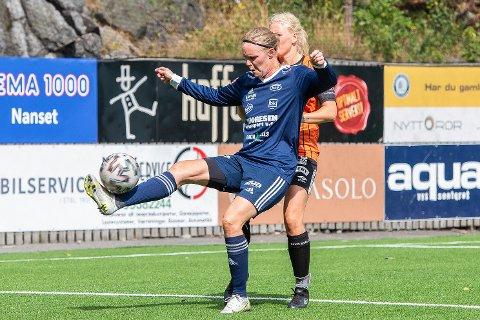 Hat trick-helt: Maria Øvrum Hageland sto for tre av målene da Nanset slo Eik Tønsberg 7-1 på bortebane søndag kveld.