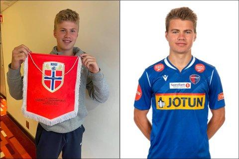 LANDSLAGSBRØDRE: Sindre Walle Egeli (t.v.) debuterte på G15-landslaget med to mål tirsdag. Dagen etter ble det klart at storebror Vetle vil få sin landslagsdebut for G17 i september.