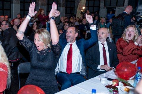 SEIERHERRER: Rødgrønn side skal styre Norge de neste fire årene. Her representert ved Maria Aasen Svendsrud, Truls Vasvik og Dag Terje Andersen.