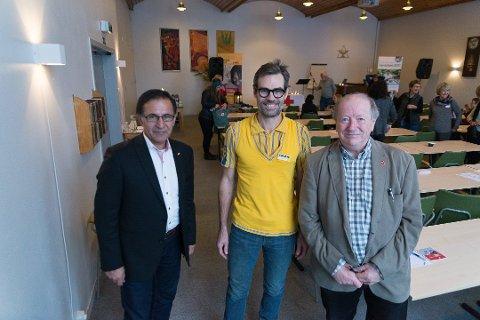 INTEGRERIJG: Sadegh Fard (Hedmark Røde Kors), Jens Listrup (IKEA) og Erling Segelstad tror på et fargerikt fellesskap. (Foto: Jo E. Brenden)