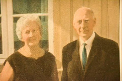 MOTSTANDSFOLK: Jenny og Gunnar Haglund hjalp flyktninger under krigen, til de sjøl måtte flykte i 1944. De hadde to døtre, Gunvor og Oddny.