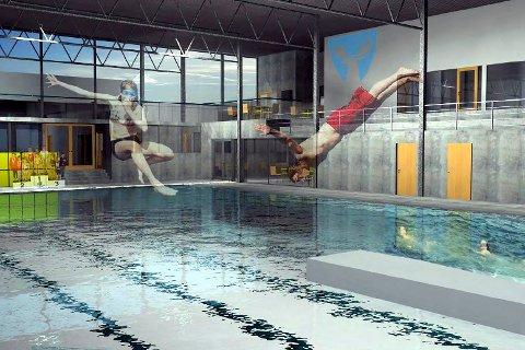 NYTT: Nytt svømmeanlegg innebærer et nytt 25 meters basseng samt ombygging av eksisterende 12,5 meters basseng.