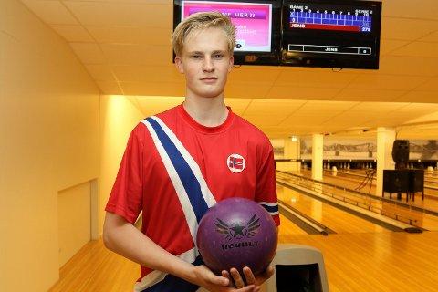 PÅ GANG: Jens MAthiesen, SOlør BK, storspiller i lagkonkurransen i U-21 VM i USA.