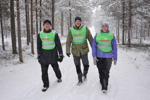 SAMARBEIDER; Turistforeningen og Norsk Forbund for Utviklingshemmede lager møteplasser sammen. Fra venstre Asbjørn Skogestad, Eirik Dahl og Lene M. Sætaberget.