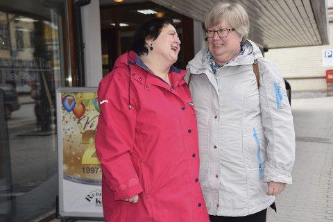 GOD KONTAKT: Elin Woldmo fra Elverum har vært kunde ved Rubens Kvinner i 20 år. Bildetekst
