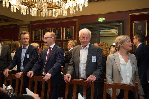 I OSLO: Hamar-ordfører Einar Busterud tok turen for å være med til Oslo.