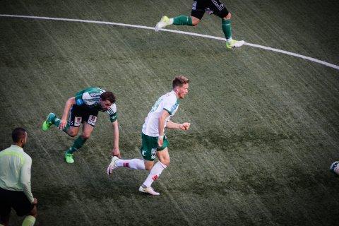 HAT-TRICK: Markus Naglestad ble kampen store spiller med hat-trick for HamKam.
