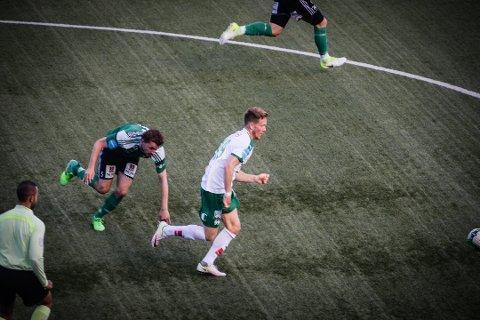 STORSCORER: Markus Naglestad fortsetter å bøtte inn mål etter overgangen fra Sandefjord. (Foto: Jan Morten Frengstad)