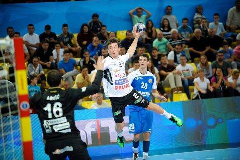 GOD KAMP: Didrik Linderud imponerte på høyrekanten og noterte seg for fem scoringer i finalen mot Montpellier.