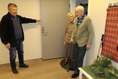 STORTRIVES:  Gudrun og Arne Borg stortrives i sin leilighet. –At folk trives er det som gjør Hoffertunet til en suksss, sier sjefen for prosjektet, Tore Kordal.