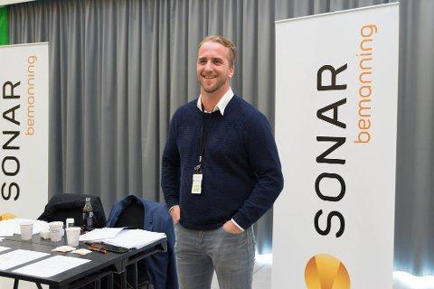 SUKSESS: Ola S. Pedersen fra Sonar Bemanning fant folk til jobber som han hadde med seg. Foto: Jo E. Brenden