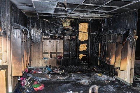 STORE SKADER: Terningen barnehage fikk omfattende skader etter brannen natt til fredag 9. november.
