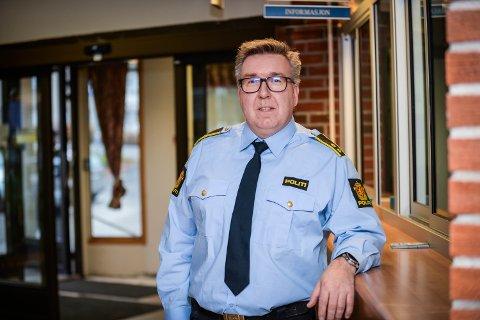 POLITIET I ELVERUM: Krimsjef i Elverum Roger Næss er bekymret for at endel kriminalitet er verre å oppdage på grunn av koronakrisen.