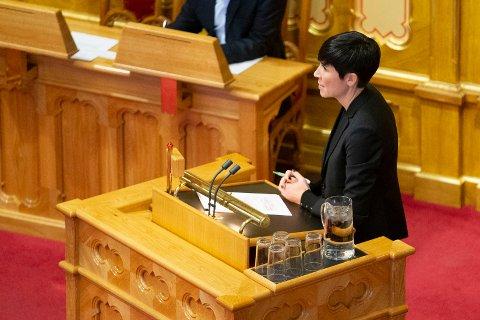 Utenriksminister Ine Eriksen Søreide (H) redegjorde om FNs migrasjonspakt i Stortinget torsdag. Arkivfoto: Fredrik Hagen / NTB scanpix
