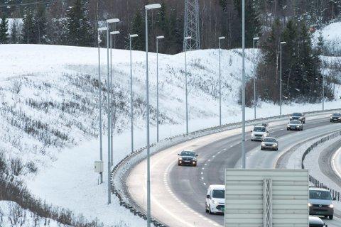 DJUPDALSTOPPEN: Her har det kommet elg ut på motorveien fire ganger den siste tida. Hans-Gerhard Kvebek i Viltnemnda sier de stadig vekk må jage bort elg fra E6.