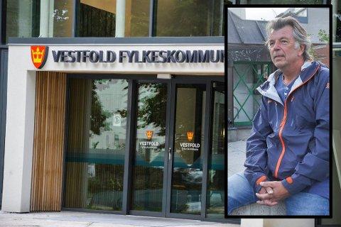 ARBEIDSKONFLIKT: Vidar Thorbjørnsen er i konflikt med Vestfold fylkeskommune. Han mener han blir presset til å godta en ufordelaktig sluttavtale. Foto: Asle Rowe