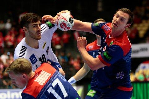 Sander Sagosen herjet mot Østerrike i VM-kampen i håndball mandag.