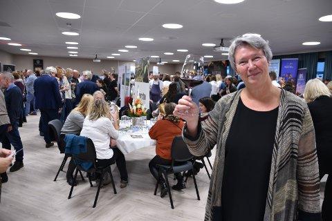 EN SUKSESS: Sjefen for snmaksfestivalen Ingvild Haugbråten er strålende fornøyd med den 5. Smaksfestivalen i Elverum.