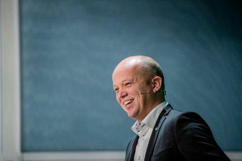 Senterpartileder Trygve Slagsvold Vedum kan glede seg over oppslutningen på Opinions novembermåling.