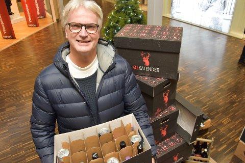 GLAD I ØL: Sven Lersveen liker øl, og ville gjerne fått noe slikt til jul.