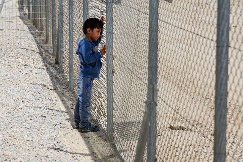 Venstre skal jobbe for å bedre de humanitære forholdene, bidra med saksbehandling av asylsøknader i Hellas og ta imot flere asylsøkere fra leirene på de greske øyene. Her fra Moria-leiren på Lesvos.