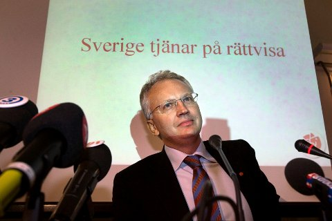 FERDIG: Styreleder i Skistar, Pär Nuder. (Foto: Anders Wiklund / SCANPIX)