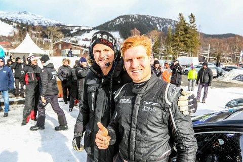 DRAMATIKK: Det ble dramatisk da en bergingsbil og en traktor gikk gjennom isen under RallyX on Ice i Åre. Der deltok Ben-Philip Gundersen fra Åsnes.