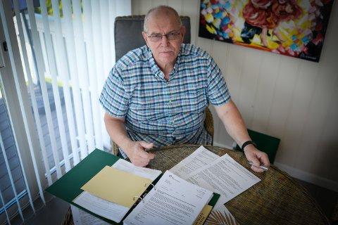 BLØDNINGER: Torleif Riseng fortviler over kommunikasjonen med legene på Sykehuset i Innlandet.