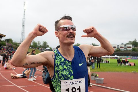 Henrik Ingebrigtsen var best på 5000 meteren under NM på Hamar. Foto: Marit Hommedal / NTB scanpix
