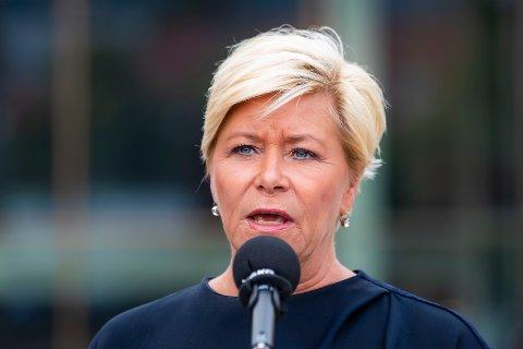 KUTT: Finansminister Siv Jensen (Frp) varsler at regjeringen ønsker å kutte i eiendomsskatten også for neste års statsbudsjett.