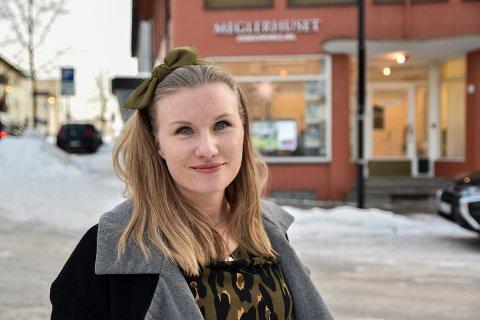 NY: Åste Christine Gjermunds startet i jobben som eiendomsmegler hos Meglerhuset Østlandet i november.